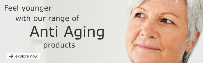 feel younger with our range of anti aging products